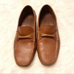 Tod's leather driving loafers slip on moccasins